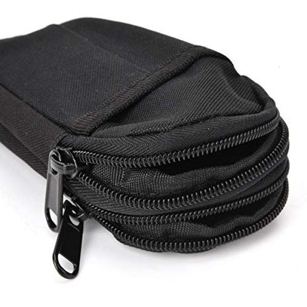 Shanbor Tactical Pouch 5 Shanbor Long Time Use Wear-Resistant Outdoor Accessory Bag, Convenient to Use 800D High Density Nylon Outdoor Bag, for(Black)