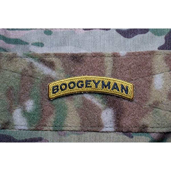 Bitway Tactical Airsoft Morale Patch 4 Bitway Tactical Boogeyman Rocker Tab Embroidered Hook-Backed Morale Patch