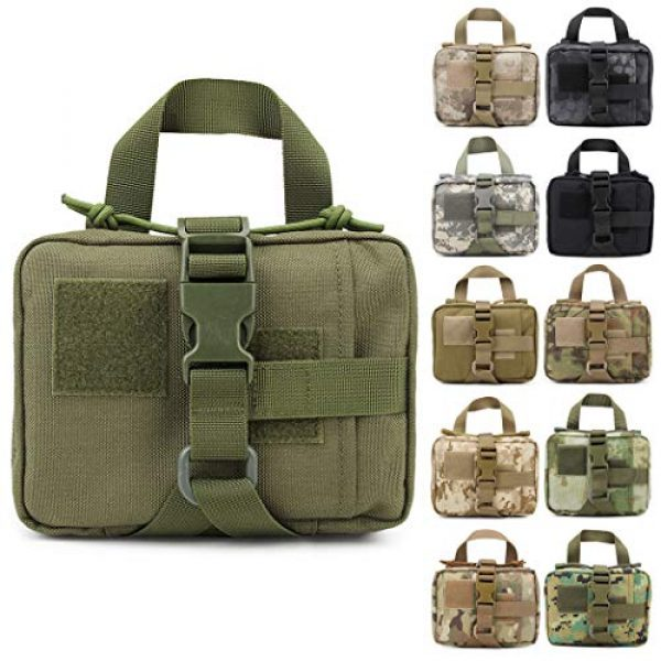 Aoutacc Tactical Pouch 1 Aoutacc Tactical MOLLE Rip Away EMT Medical Pouch, 1000D Nylon Empty IFAK Medical Kit Bag EDC EMT Military First Aid Bag Utility Pouch (Bag Only)