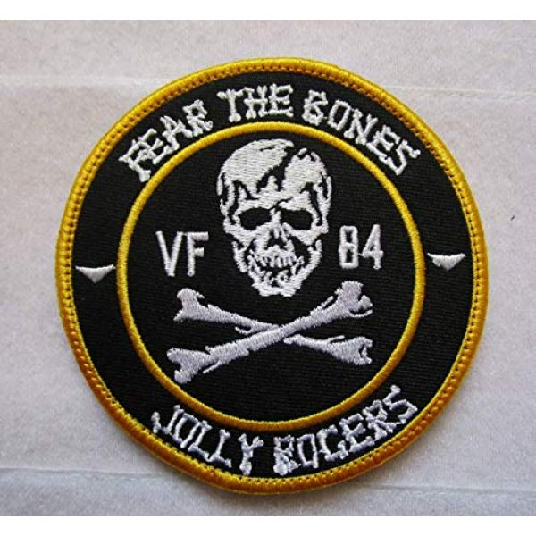"""Embroidered Patch Airsoft Morale Patch 1 VF-84 Jolly Rogers""""Fear The Bones"""" 3D Tactical Patch Military Embroidered Morale Tags Badge Embroidered Patch DIY Applique Shoulder Patch Embroidery Gift Patch"""