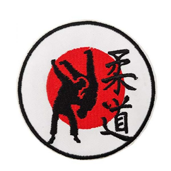 """Cute-Patch Airsoft Morale Patch 1 3"""" Judo Symbol Embroidered Iron on sew on Patch Martial Arts Accessories Applique"""