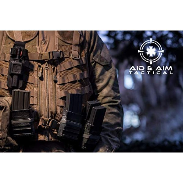 """Aid&Aim Tactical Tactical Pouch 7 Tourniquet Holder Pouch by Aid&Aim Tactical for Gen7 Tourniquet or Older Gen Tourniquets- Holster Case with Belt Clip Fits Molle Equipment,Police Gear, Duty and Utility Belt up to 2"""" Wide"""
