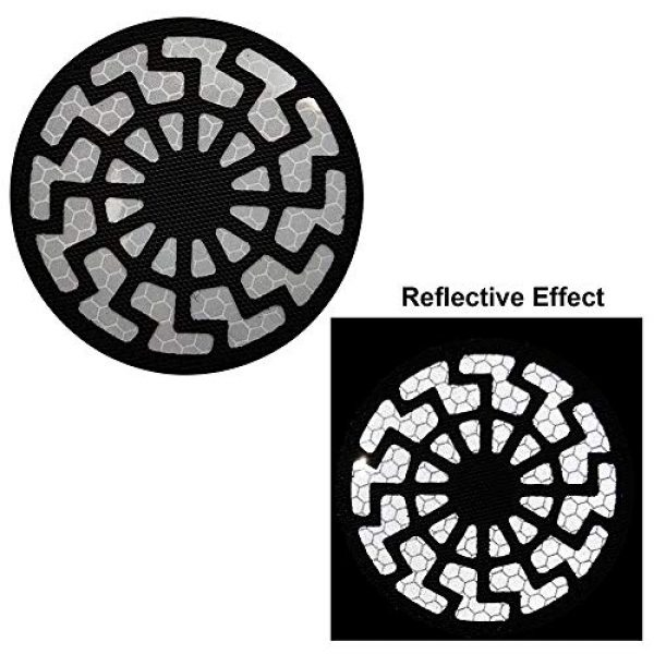 APBVIHL Airsoft Morale Patch 4 Reflective Infrared IR Black Sun Patch Stickers Chemical Resident Evil Military Morale Decorative Patches Emblem Badges Tactical Appliques with Hook and Loop Fastener Backing