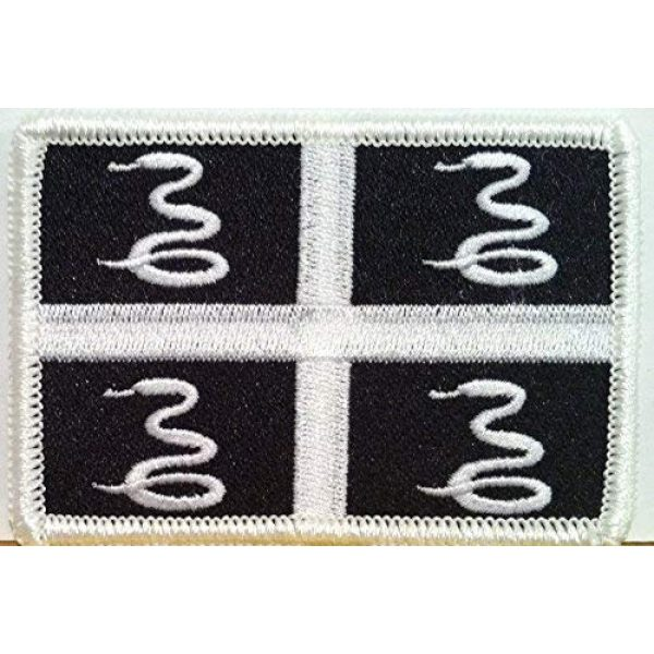 Fast Service Designs Airsoft Morale Patch 1 Martinique Flag Embroidered Patch with Hook & Loop Travel Morale Patriotic MC Biker Shoulder Black & White Version Emblem #119