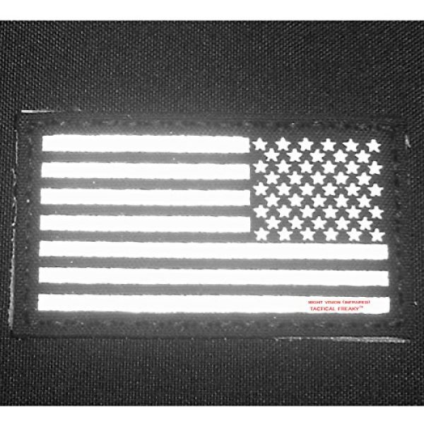 Tactical Freaky Airsoft Morale Patch 6 Multicam Infrared IR USA American Reversed Flag 3.5x2 IFF Tactical Morale Fastener Patch