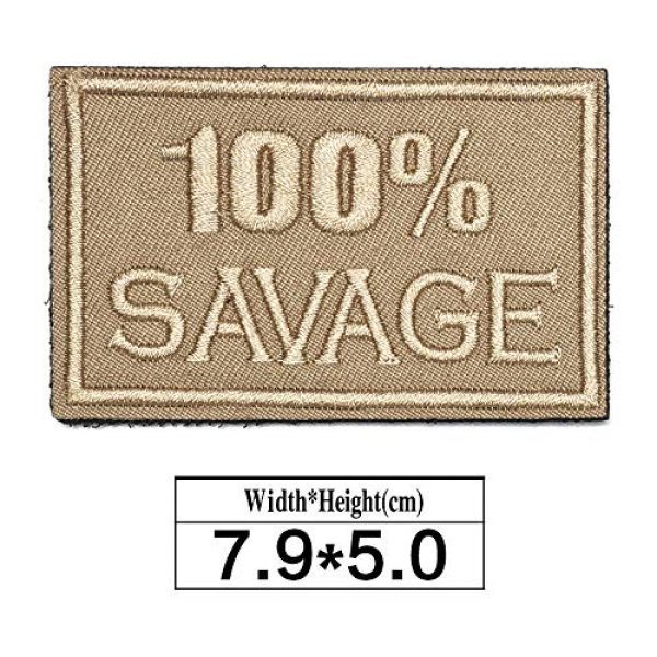 ZHDTW Airsoft Morale Patch 2 ZHDTW Tactical Morale Letter Patches 100% Savage Decorative Patches with Hook Loop for Bags, Backpacks, Clothing (DT048)