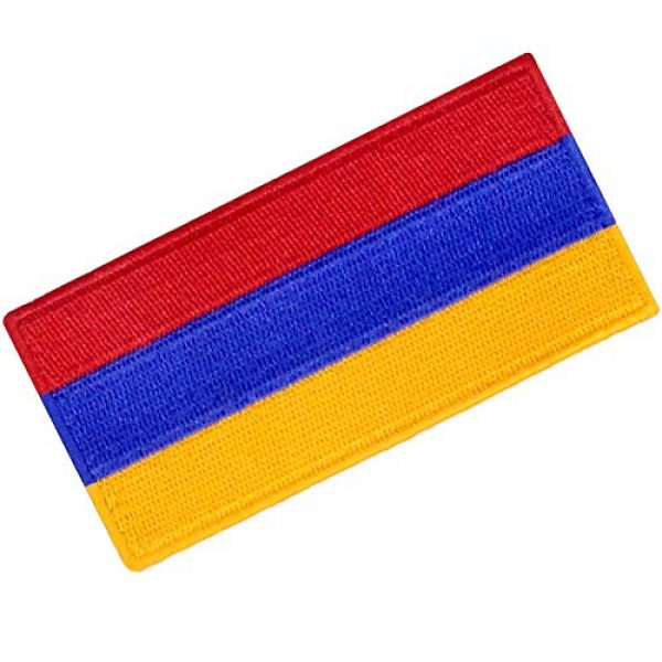 EmbTao Airsoft Morale Patch 3 Armenia Flag Embroidered Patch Armenian Iron On Sew On National Emblem