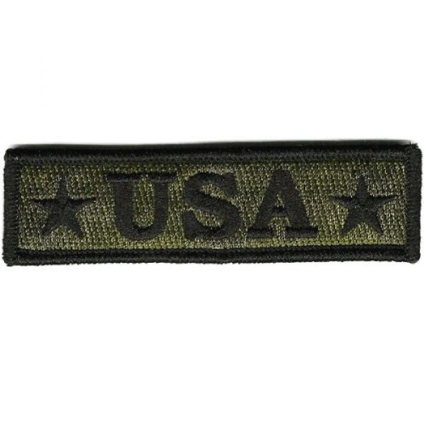 Gadsden and Culpeper Airsoft Morale Patch 1 U.S.A. Tactical Morale Patch - Olive Drab