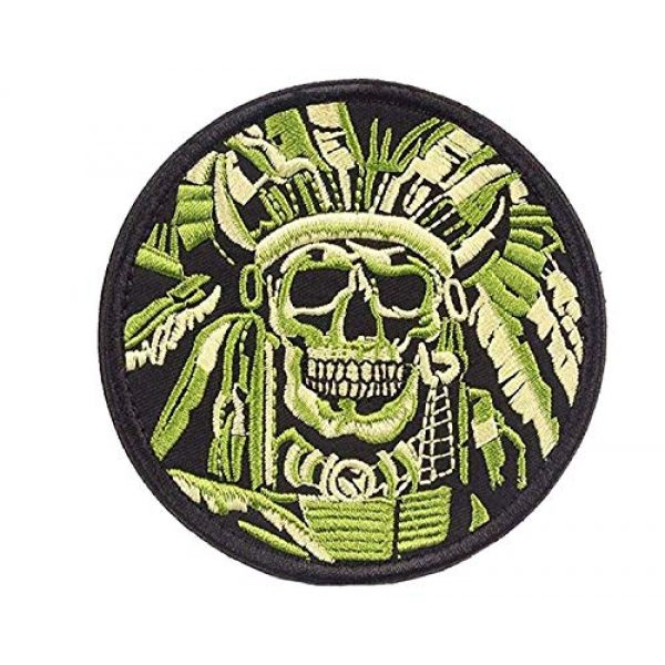 VOZUKO Airsoft Morale Patch 6 Tactical Morale Patches - Bundle 2 Pieces Full Embroidery Hook Backed With Loop Attachment