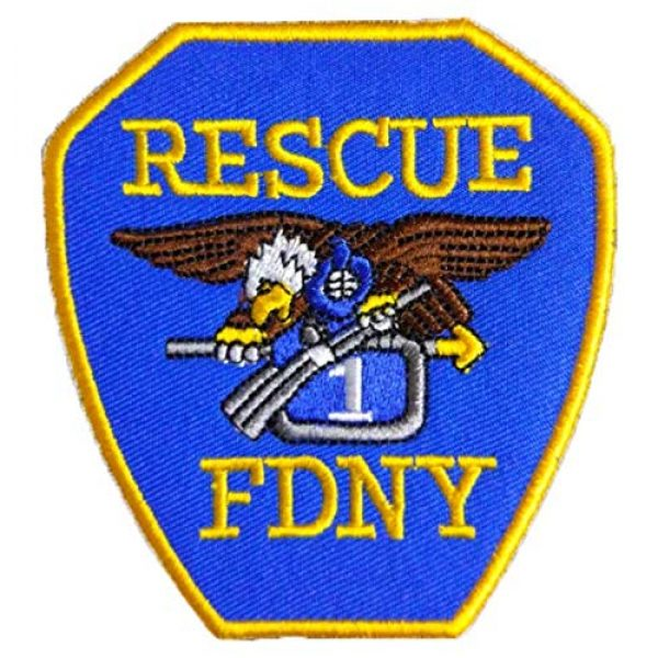 Tactical Embroidery Patch Airsoft Morale Patch 1 Fireing Department New York City (FDNY) Rescue Embroidery Patch Military Tactical Morale Patch Badges Emblem Applique Hook Patches for Clothes Backpack Accessories