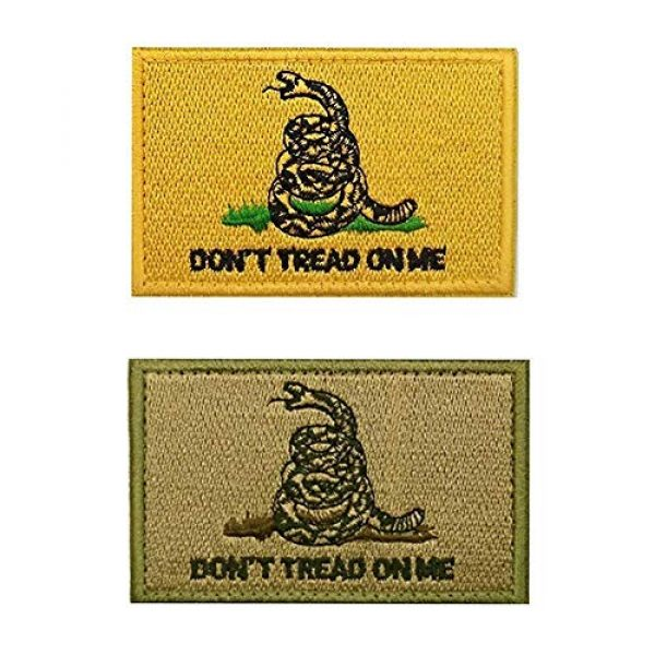 Axe Sickle Airsoft Morale Patch 4 AxeSickle 2x3 Inch Don't Tread on me Embroidered Patch American Flag Patch Tactical Military Morale Patch 4 Pcs.