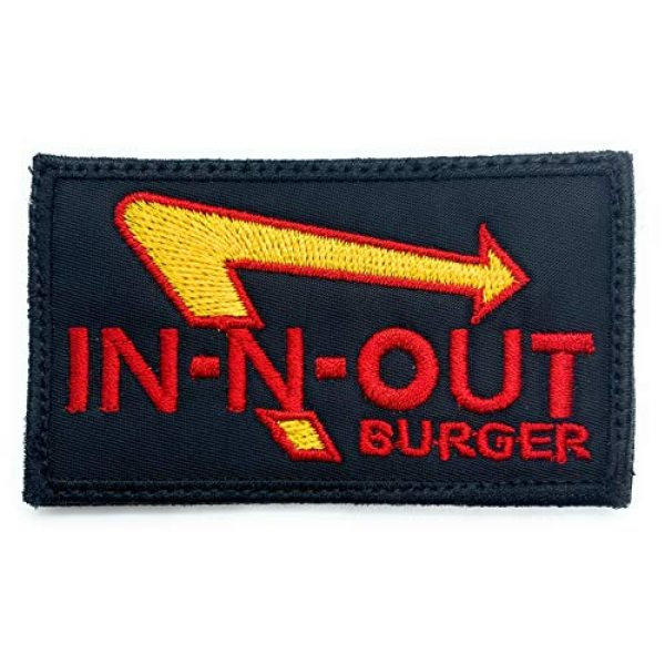 Almost SGT Airsoft Morale Patch 1 in-N-Out Burger - Funny Tactical Military Morale Embroidered Patch Hook Backing