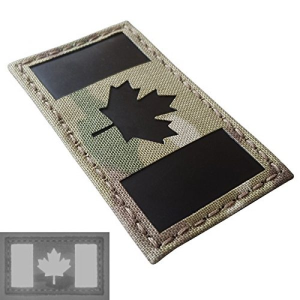 Tactical Freaky Airsoft Morale Patch 3 Multicam Infrared IR Canada Flag 3.5x2 IFF Tactical Morale Hook&Loop Patch