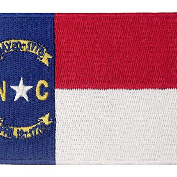 EmbTao Airsoft Morale Patch 2 North Carolina State Flag Patch NC Embroidered Applique Iron On Sew On Emblem