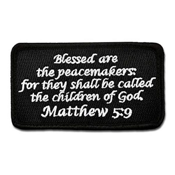 BASTION Airsoft Morale Patch 1 BASTION Morale Patches (Matthew 5:9, Black)   3D Embroidered Patches with Hook & Loop Fastener Backing   Well-Made Clean Stitching   Christian Patches Ideal for Tactical Bag, Hats & Vest
