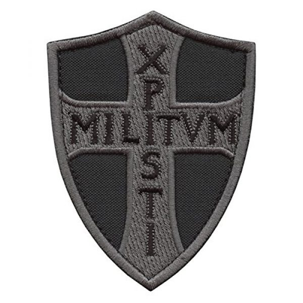 LEGEEON Airsoft Morale Patch 1 LEGEEON ACU Subdued Knights Templar Chi Rho Xpisti Militvm Soldiers of Christ Crusader Cross Tactical Morale Hook&Loop Patch
