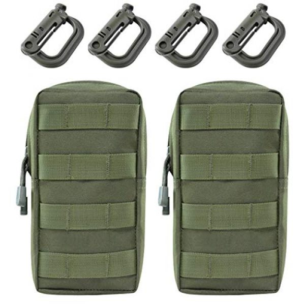Aoutacc Tactical Pouch 1 2 Pack Tactical Modular Molle Pouches, Compact Small Utility Pouch EDC Waist Bag Pouch