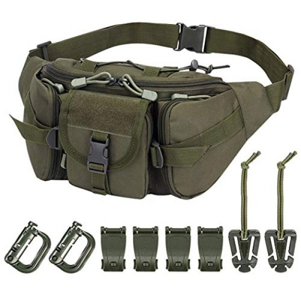 Aoutacc Tactical Pouch 1 Tactical Fanny Pack Military Waist Bag Pack Sling Bag Range Bag Utility EDC Hip Bag with Adjustable Strap for Outdoor Sports Jogging Walking Hiking Cycling