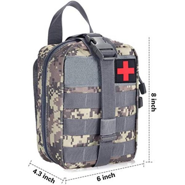 ACOMOO Tactical Pouch 2 ACOMOO Medical Emergency IFAK Life-Saving Bag Outdoor Medical kit Mountaineering/Rescue kit Made of 600D Waterproof Fabric