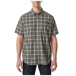 5.11 Tactical Shirt 1 5.11 Tactical Men's Poly-Cotton Hunter Plaid Short Sleeve Shirt, Style 71374