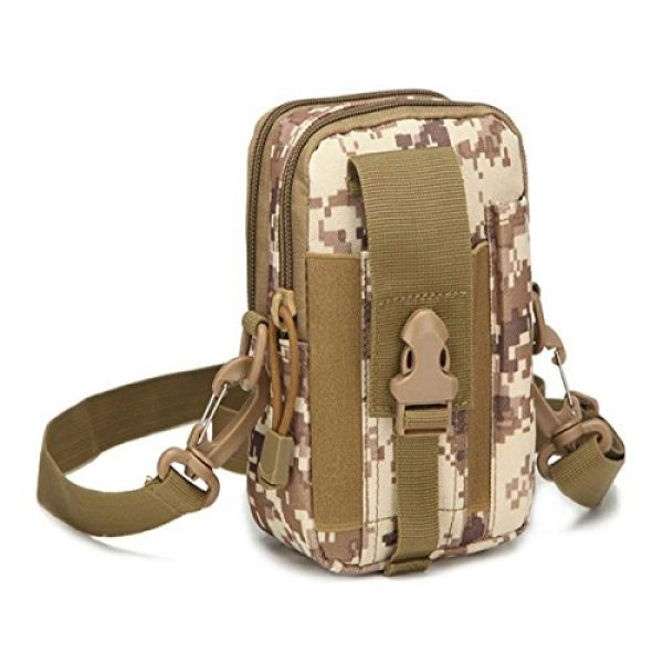 Ailuner Tactical Pouch 1 Tactical Molle Waist Bags, Waterproof Pouch, Universal Men's Outdoor Sport Casual Waist Pack Coin Purse Gear Holster Utility Pouch Phone Case (Desert)