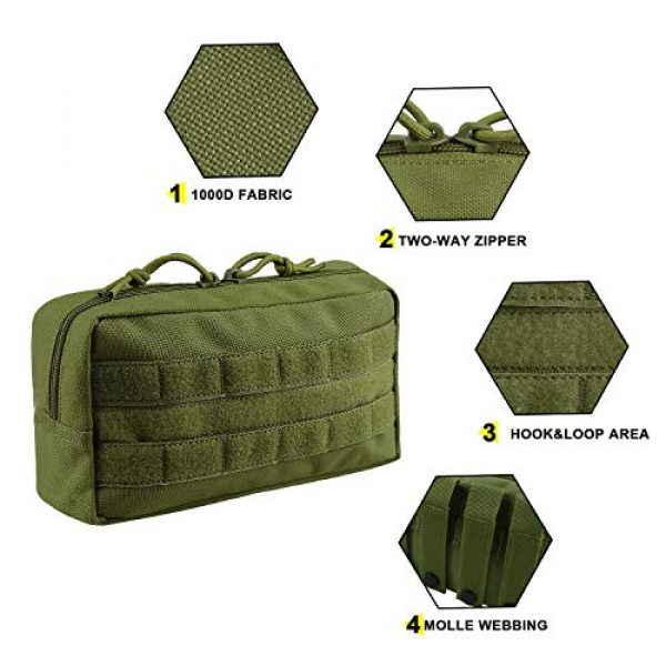 AMYIPO Tactical Pouch 3 AMYIPO MOLLE Pouch Multi-Purpose Compact Tactical Waist Bags Utility Pouch