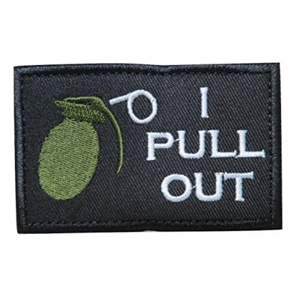 TrendyLuz Airsoft Morale Patch 1 I Pull Out Grenade Morale Tactical Military Embroidered Hook & Loop Patch