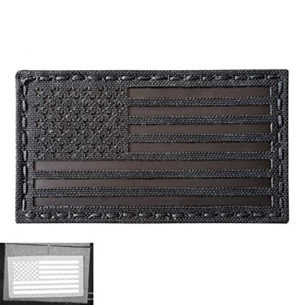 Tactical Freaky Airsoft Morale Patch 5 Blackout Infrared IR USA American Flag 3.5x2 IFF Tactical Morale Hook&Loop Patch
