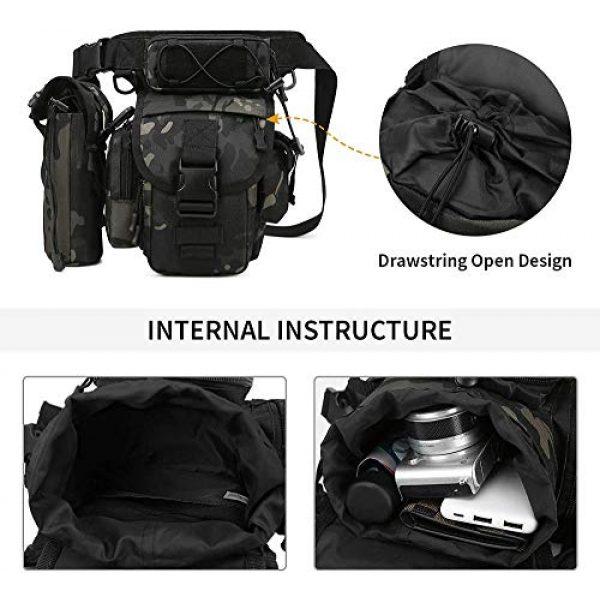 ACOMOO Tactical Pouch 4 ACOMOO Tactical Drop Leg Waist Bag Mens Outdoor Sport Thigh Hip Pack Utility Pouch Camo Black