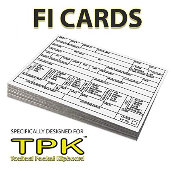 TacticalKlips Tactical Accessory Field Interview Card 2 Tactical Pocket Klipboard, TMK-TPK