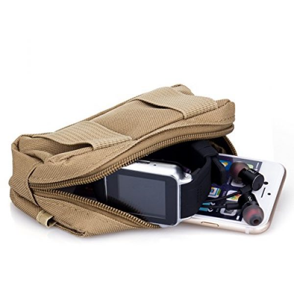 BIENNA Tactical Pouch 4 BIENNA Tactical Pouch, Small Military Bag Molle Gear [Waterproof] Nylon EDC Utility Gadget Zipper Waist Bag Pack with Phone Holster Pocket Cover Case for Vest & iPhone 7 6 6s 5 5s Galaxy S5 S6 S7