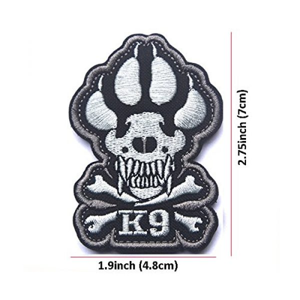 Zhikang68 Airsoft Morale Patch 2 K9 & Crossbone Killer Attack Police Dog Fastener Patch Embroidered Army Swat Morale Hook Loop Backing Tactial Badge Swat for Service Animal Vest (Night Reflective)