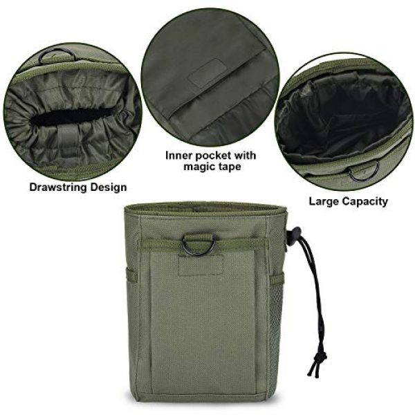 Boao Tactical Pouch 6 2 Pieces Molle Pouches Tactical Molle Dump Pouch Drawstring Magazine Dump Pouch Utility Waist Bag for Outdoor Supplies