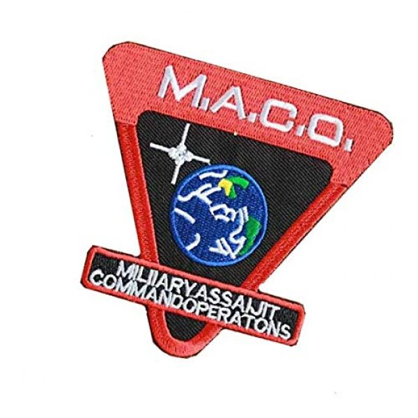 Embroidery Patch Airsoft Morale Patch 3 Star Trek Enterprise M.A.C.O Military Hook Loop Tactics Morale Embroidered Patch