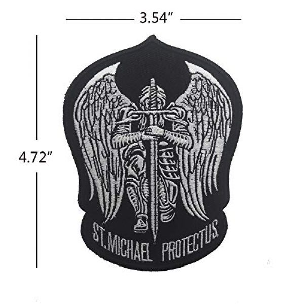 Zhikang68 Airsoft Morale Patch 2 St.Saint Michael Protect Us Modern Morale Embroidered Patch Tactical Military Army Operator Patches Applique for Coat Jacket Gear Cap Hat Backpack