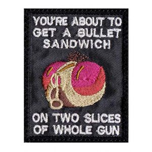 Patch Brigade Airsoft Morale Patch 1 Rick Fly Bullet Two Slices Whole Gun Morty Patch