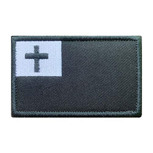 Antrix Airsoft Morale Patch 1 Antrix Tactical Christian Flag Patch Jesus Cross Symbol Applique Fastener Hook and Loop Military Christmas Badge Emblem Badge Patch for Backpacks Caps Hats Vests Bags