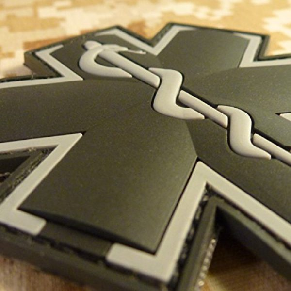 LEGEEON Airsoft Morale Patch 3 LEGEEON ACU Black EMS EMT Medic Paramedic Star of Life Morale Tactical PVC 3D Hook-and-Loop Patch