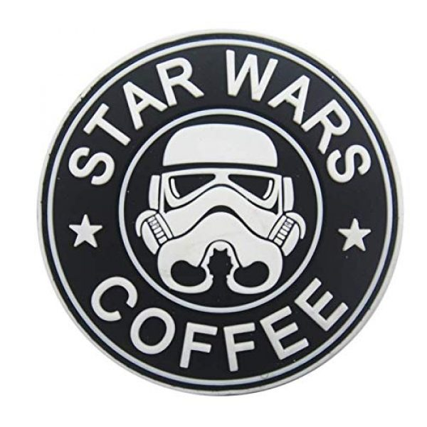 Tactical PVC Patch Airsoft Morale Patch 4 Star Wars Clone Trooper Helmet PVC Military Tactical Morale Patch Badges Emblem Applique Hook Patches for Clothes Backpack Accessories