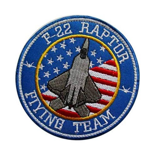 Embroidery Patch Airsoft Morale Patch 3 US F-22 Raptor Demo Team F22 AIR Force Stealth Fighter Military Hook Loop Tactics Morale Embroidered Patch