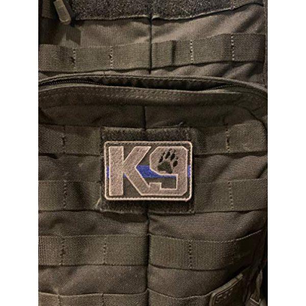 PakedDeals Airsoft Morale Patch 2 PakedDeals Thin Blue Line K9 Morale Patch Hook & Loop Police Bag Tac Vest