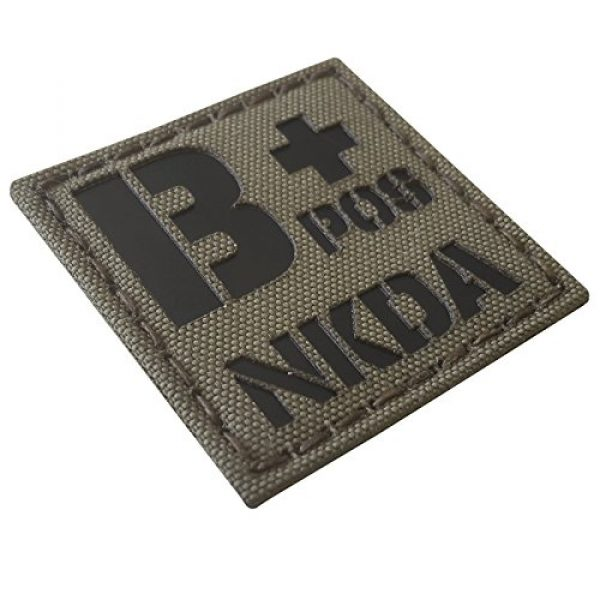 Tactical Freaky Airsoft Morale Patch 5 Ranger Green Infrared IR BPOS NKDA B+ Blood Type 2x2 Tactical Morale Fastener Patch