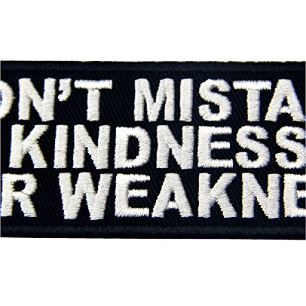 EmbTao Airsoft Morale Patch 2 EmbTao Don't Mistake Kindness For Weekness Embroidered Iron On Sew On Patch