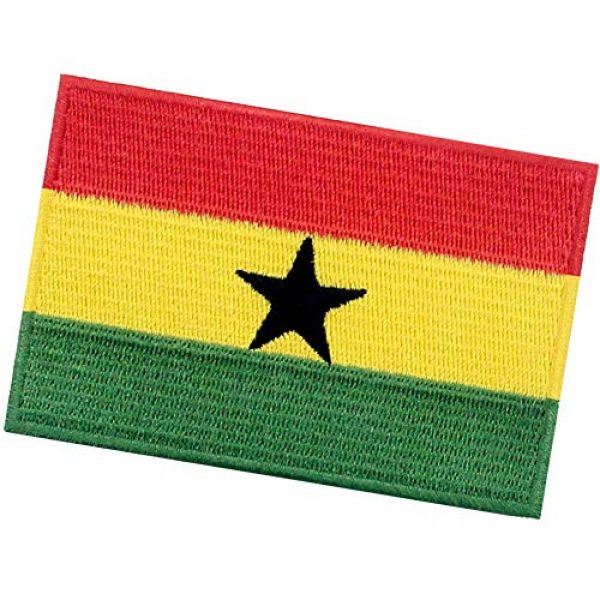 EmbTao Airsoft Morale Patch 4 EmbTao Ghana Flag Patch Embroidered National Morale Applique Iron On Sew On Ghanaian Emblem