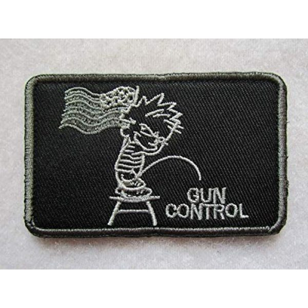 Embroidered Patch Airsoft Morale Patch 1 Piss ON Gun Control US Second 2ND Amendment 3D Tactical Patch Military Embroidered Morale Tags Badge Embroidered Patch DIY Applique Shoulder Patch Embroidery Gift Patch
