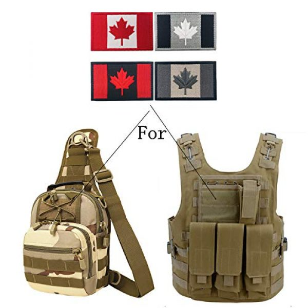 Heyqie Airsoft Morale Patch 6 2 Pieces Canada Flag Patches, Canadian Flag Patch 3.1 X 2.0 Inch Velcro Patches Morale Military Uniform Emblem Patch Iron-on Patch for Tactical Backpacks Bags Clothes Jackets Hats