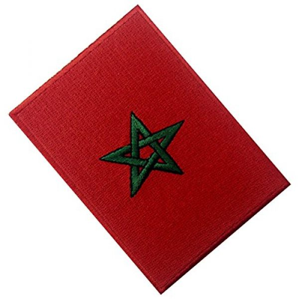 EmbTao Airsoft Morale Patch 4 Morocco Flag Embroidered Patch Moroccan Iron On Sew On National Emblem