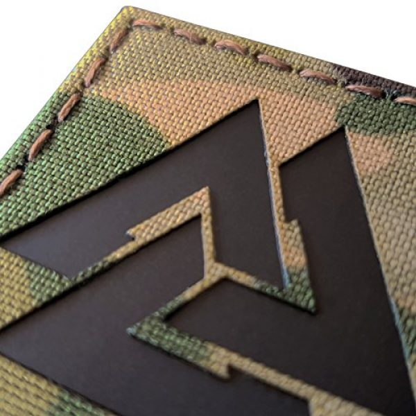 Tactical Freaky Airsoft Morale Patch 3 Multicam Infrared IR Viking Valknut Norse 2x2 IFF Tactical Morale Touch Fastener Patch