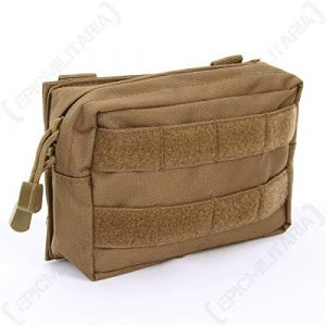 Mil-Tec Tactical Pouch 1 Mil-Tec MOLLE Belt Pouch Small Dark Coyote