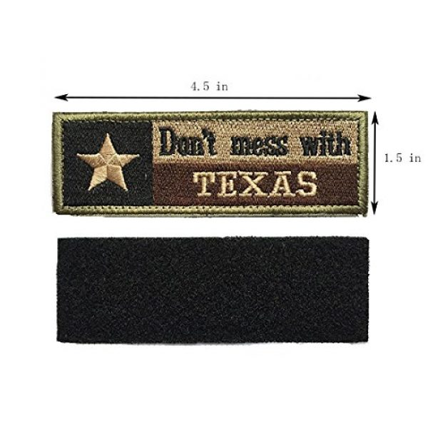 Homiego Airsoft Morale Patch 2 Homiego Texas State Flag Military Tactical Morale Desert Badge Hook & Loop Embroidery Patch for Hat Backpack Jacket (Texas State Flag - D)